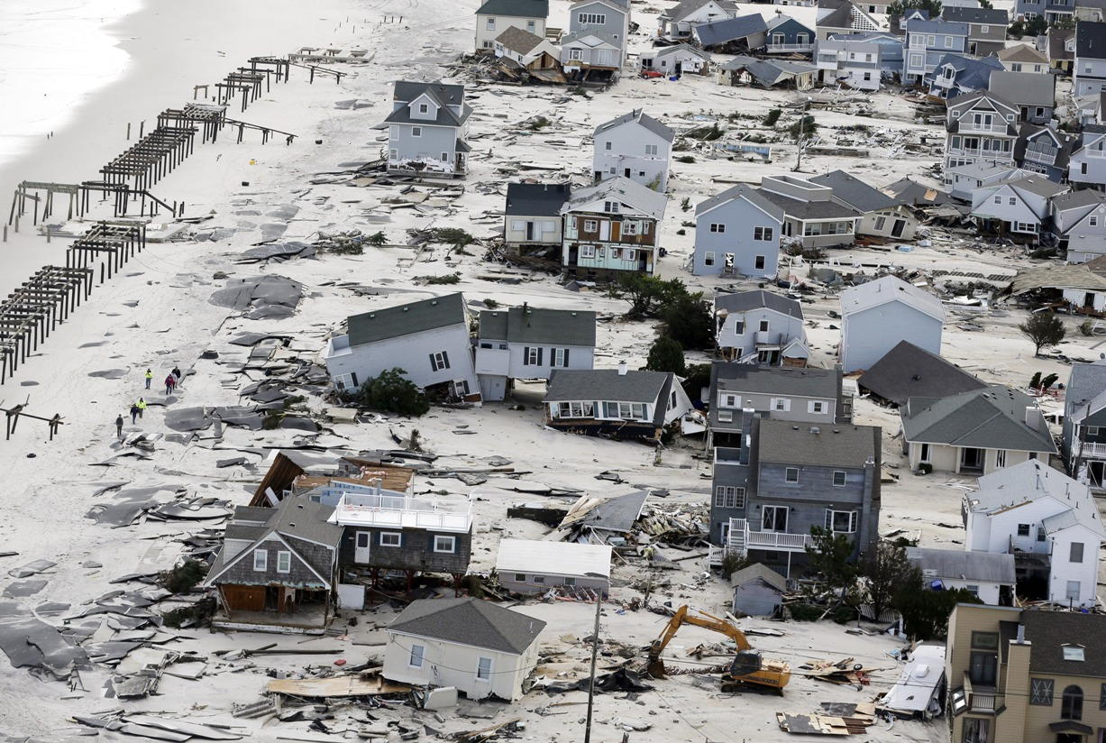 Seaside Heights sandy aftermath AP Images