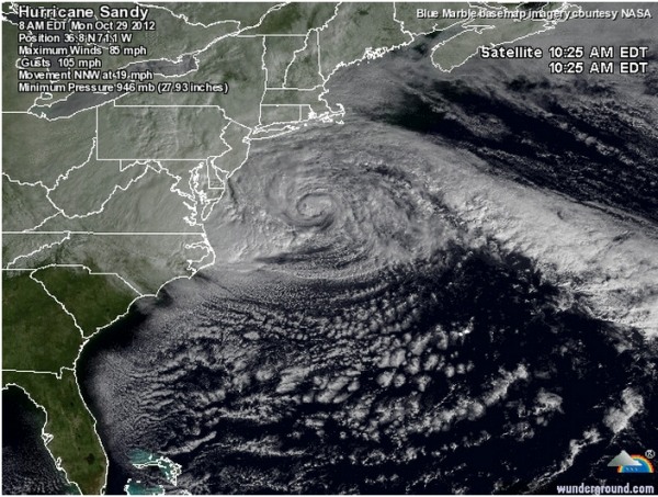 Super Storm Sandy – A Meteorological Near Miss